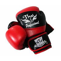Боксерские перчатки Thai Professional BG7 Black-Red