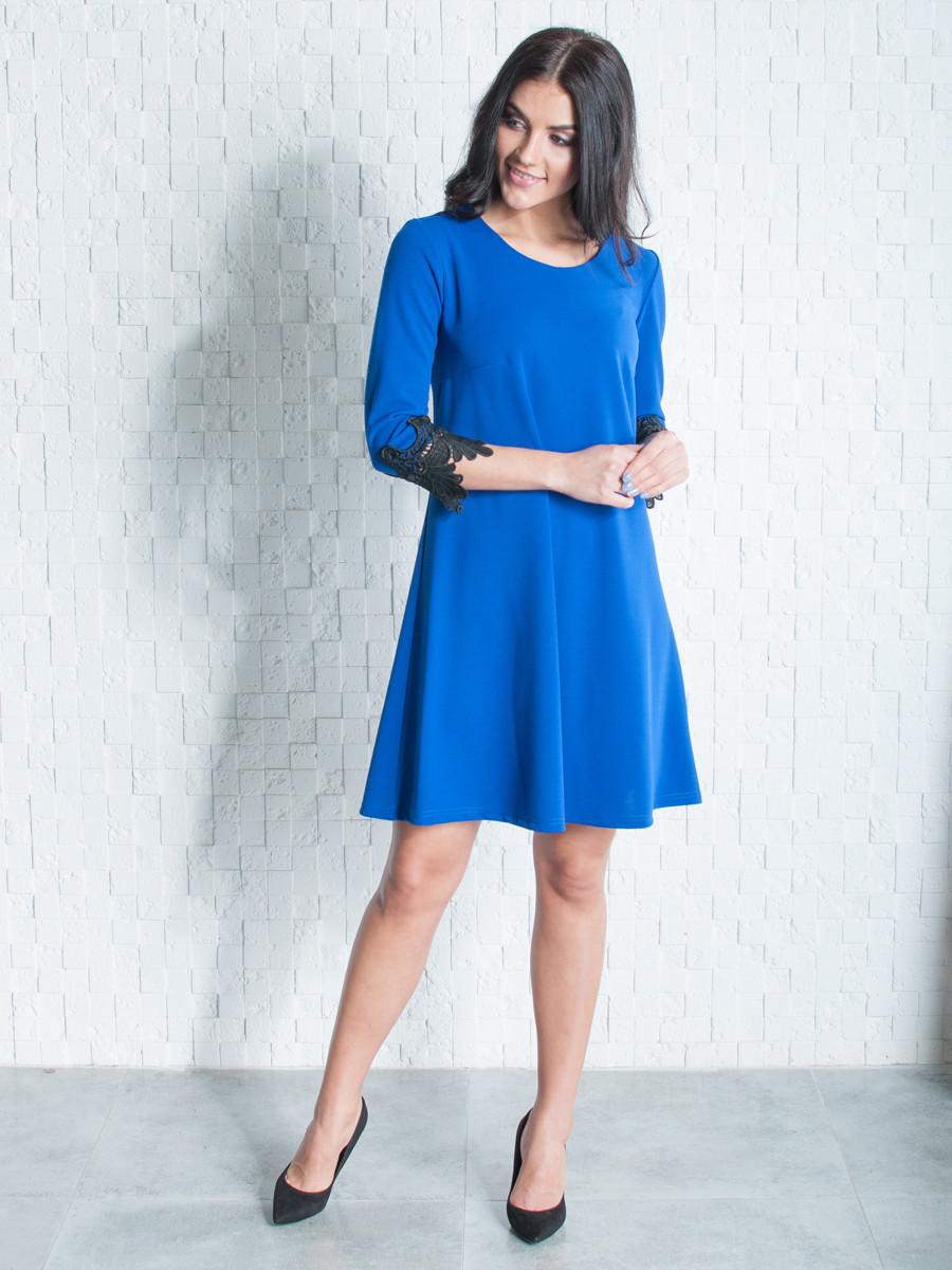 Женское стильное платье с кружевом 46.48,50,52