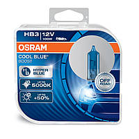Комплект галогенных ламп Osram HB3 12V 100W 5000K P20D / COOL BLUE BOOST - БЕЛО-ГОЛУБОЙ СВЕТ