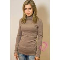 Гольф-свитер для кормящих Грецкий орешек ГРУДНИЧОК (размер 42,бежевый)