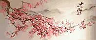Картина по номерам. Триптих. Ветка сакуры