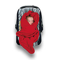 Детский многофункциональный флисовый плед HOPPEDIZ (красный)