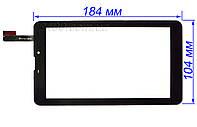 Тачскрин, сенсор планшета Nomi C07002 черный 184*104 мм