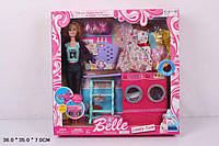 """Кукла типа """"Барби"""" одежда,стир.машина.глад.доска.корзина и др.,в кор.36*35*7см /24-2/"""