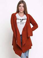 Модная вязаная шаль-кардиган с рукавами Код:HW121
