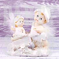 Статуэтки Ангелочки с тачкой