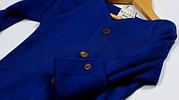 Кардиган из шерсти мериноса MAM ManyMonths (размер 50-68/74, синий), фото 1