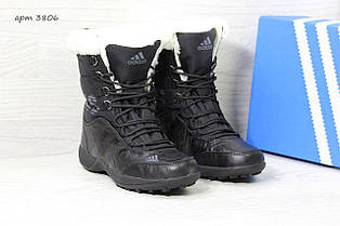 Високі жіночі зимові черевики Adidas Climaproof,чорні 36р.