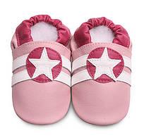 Детские мокасины из натуральной кожи SHOOSHOOS SPK44 Pink Sport Star (размер M)