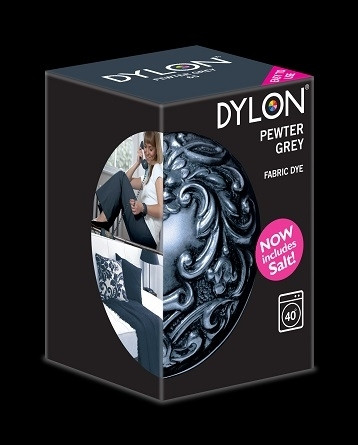 Краска для окрашивания ткани в стиральной машине DYLON Pewter Grey
