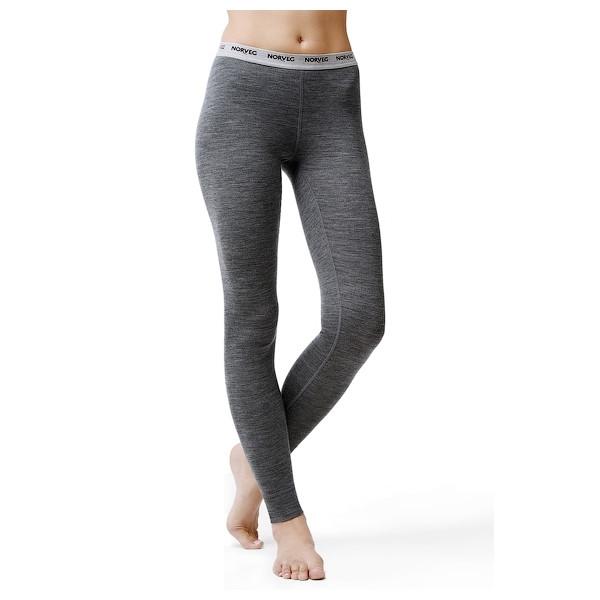 Термолеггинсы женские Soft NORVEG (серый меланж, размер XS)