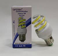 LED лампа 7W 4000К Е27 Optima