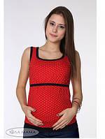 Майка для беременных и кормящих Judi ЮЛА МАМА (красная в горошек, размер L)