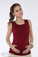 Майка для беременных и кормящих Lisa ЮЛА МАМА (бордо, размер L)