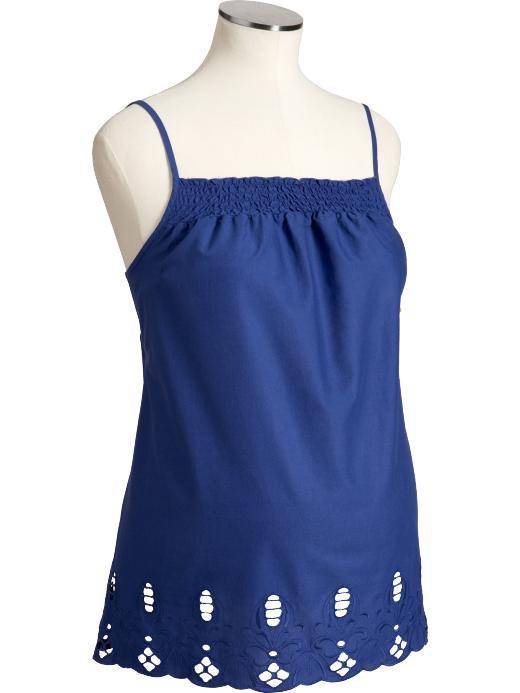 Майка на тонких бретелях для беременных OLD NAVY (синяя, размер S)