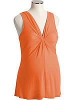 Майка со сборками для беременных OLD NAVY (оранжевый, размер M)