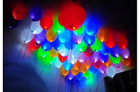 Светящиеся шары Киев 25 см. Светодиодные шары Троещина, Воскресенка. Гелиевые шары Киев.