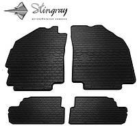 Комплект резиновых ковриков Stingray для автомобиля  Chevrolet Spark M300 2009-    4шт.