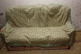 Двухспальные комплекты гобеленовых покрывал Брызги шампанского (зеленый)