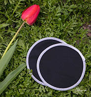 Многоразовые бамбуковые ЭКО-прокладки для груди, черные СЛИНГОПАРК®, фото 1