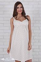 Ночная рубашка для беременных и кормящих Shine ЮЛА МАМА (сердечки на экрю, размер М)