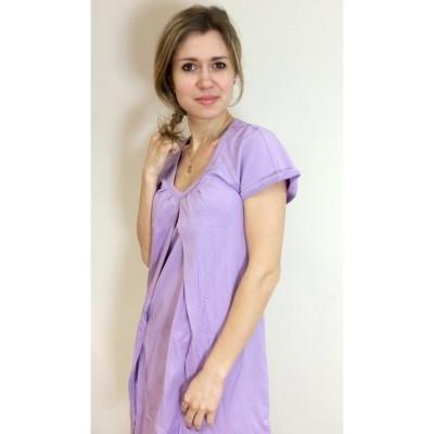 Ночная рубашка для беременных и кормящих Лиловая ГРУДНИЧОК (размер 42/44,лиловый)