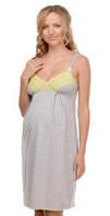 Ночная рубашка для беременных и кормящих Меланж МАМИН ДОМ (серый меланж, размер 42)