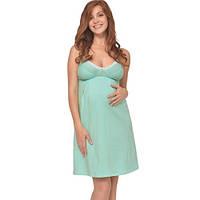 Ночная рубашка для беременных и кормящих Мохито МАМИН ДОМ (зелёный, размер 42), фото 1
