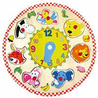 Пазлы - часы Животные BINO