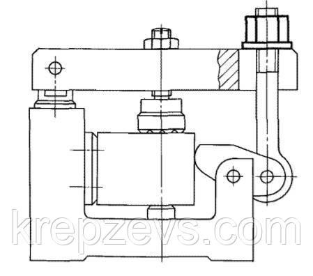 Пример использования гайки с буртиком ГОСТ 8918-69