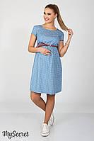 Платье для беременных и кормящих Celena звезды ЮЛА МАМА (голубой, размер L)