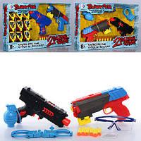 Набор оружия RD8811-12 (12шт) пистолет2шт,22см,вод.пули,пули-присоски,2вид(1в-зв,св),в кор,49-