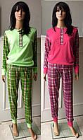 Женская трикотажная пижама кофта и штаны 44-52 р, женские пижамы оптом от производителя
