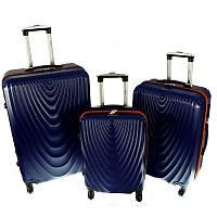 Чемодан RGL 663 набор 3 штуки темно-синий