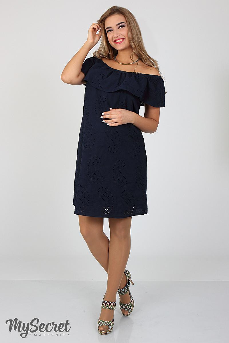 Платье для беременных и кормящих Elezevin ЮЛА МАМА (темно синее, размер S)