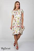 Платье для беременных и кормящих Flyor ЮЛА МАМА (принт цветы, размер L)