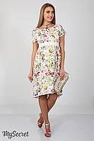 Платье для беременных и кормящих Flyor ЮЛА МАМА (принт цветы, размер S), фото 1