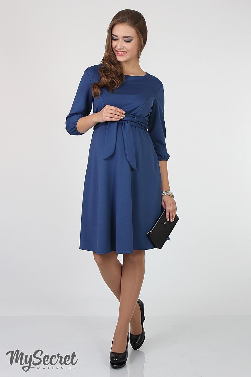 Платье для беременных и кормящих Gloria ЮЛА МАМА (синее, размер М)