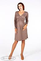 Платье для беременных и кормящих Marсi ЮЛА МАМА (коричневое, размер M)