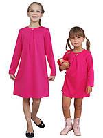 Платье  для девочки трикотажное с рукавом М-1107 размеры от 98 до 140, фото 1
