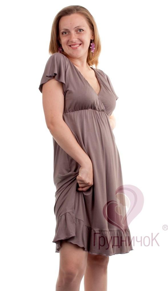 Платье для беременных и кормящих Фрезия ГРУДНИЧОК (размер 46/48,серый)