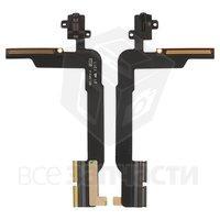 Шлейф для планшетов Apple iPad 4, коннектора наушников, с компонентами
