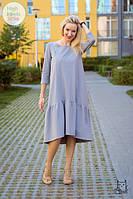 Платье свободного силуэта с оборкой для беременных и кормящих мам HIGH HEELS MOM (серое), фото 1