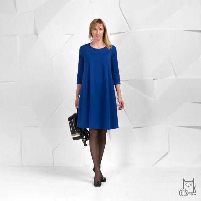 Платье для беременных и кормящих HIGH HEELS MOM трансформер синее