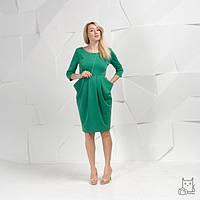 Платье Тюльпан для беременных и кормящих мам HIGH HEELS MOM (зеленый, размер S)