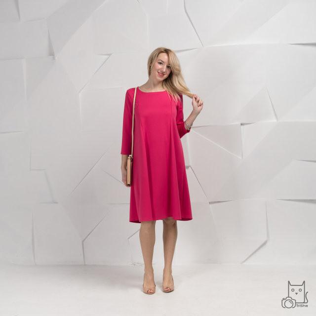 Платье для беременных и кормящих HIGH HEELS MOM трансформер малиновое