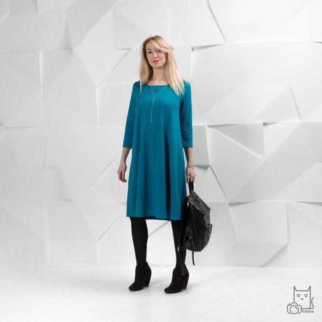 Платье для беременных и кормящих HIGH HEELS MOM трансформер, морская волна