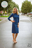 Платье футляр для беременных и кормящих мам HIGH HEELS MOM (синий, размер S/M)