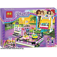 Конструктор Bela Friends Парк развлечений Аттракцион Автодром Аналог Lego Friends 429 дет