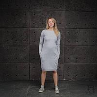 Платье-свитшот для беременных и кормящих мам HIGH HEELS MOM (серый меланж, размер S)